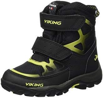 Viking Unisex Kids' Kjetil Velcro Short Boots Black Size: UK 2.5