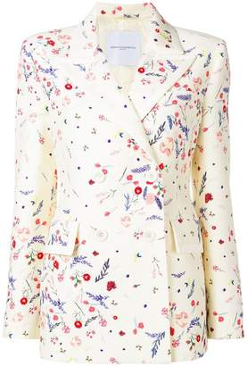 Ermanno Scervino floral double breasted blazer