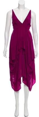 Balenciaga Draped Silk Dress