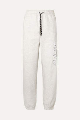 adidas By Alexander Wang - Printed Cotton-terry Track Pants - Light gray
