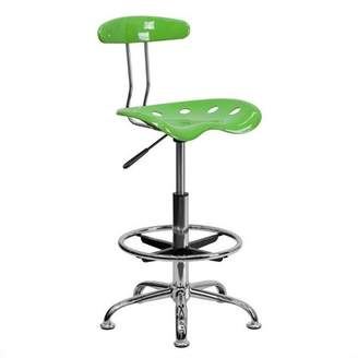 Flash Furniture Adjustable Height Drafting Stool with Tractor Seat, Spicy Lime