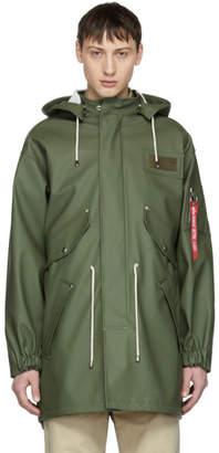 Stutterheim Green Alpha Industries Edition M-65 Fishtail Coat