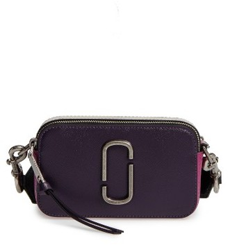 Marc Jacobs Snapshot Leather Crossbody Bag - Blue $295 thestylecure.com