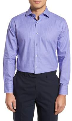 Lorenzo Uomo Trim Fit Mini Check Dress Shirt