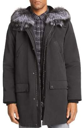 Maximilian Furs Rabbit Fur-Lined Parka with Fox Fur Trim