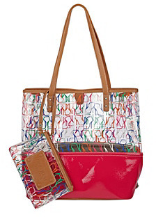 Nine West Pink Multi Can't Stop Shopper Tall Large Tote - Stiletto