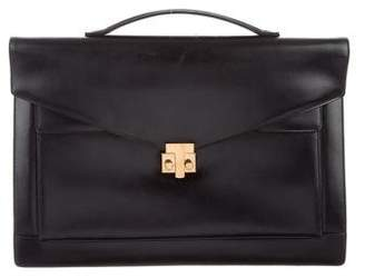 6b165530fde9 Black Leather Briefcase - ShopStyle
