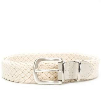 Eleventy woven detail belt