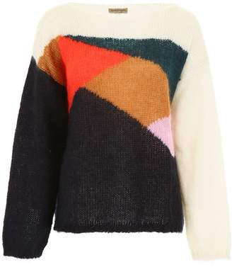 Burberry Pullover With Geometric Intarsia