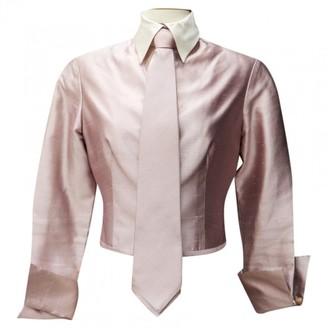 Christian Dior Purple Silk Tops