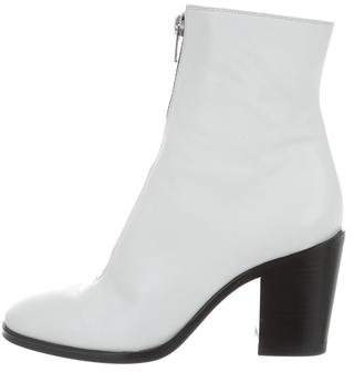 Celine Leather Zip Ankle Boots