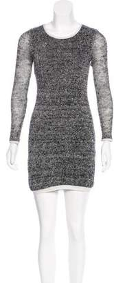 Gryphon Knitted Linen Mini Dress