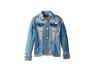 7 For All Mankind Kids Cropped Denim Jacket (Big Kids)