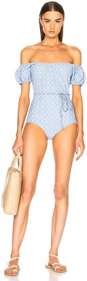 Lisa Marie Fernandez Leandra Two Tone Swimsuit