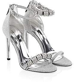 Calvin Klein Women's Camelle Swarovski Crystal Stiletto Sandals