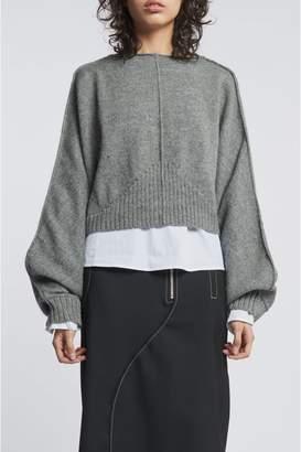 Dagmar Oruru Llama Wool Sweater Grey Melange