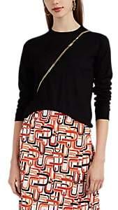 Prada Women's Fine-Gauge Knit Virgin Wool Crewneck Sweater - Black