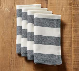 Pottery Barn Wheaton Wide Stripe Napkin- Sailor Blue