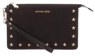 MICHAEL Michael Kors Fall 2017 Leather Star Clutch