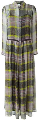 Twin-Set checked maxi dress $342.11 thestylecure.com