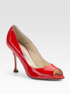 Lana Patent Peep-Toe Pumps