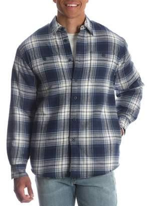 Wrangler Men's Sherpa Lined Flannel Shirt