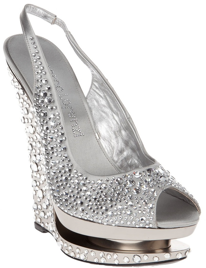 Gianmarco Lorenzi Collector Crystal wedge shoe