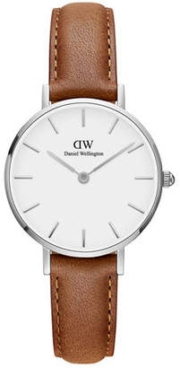 Daniel Wellington 28mm Classic Petite Durham Watch w/ Leather Strap