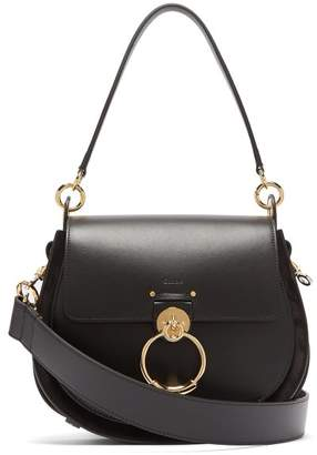 Chloé Tess Medium Leather Cross Body Bag - Womens - Black