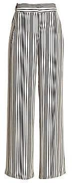 Halston Women's Striped Wide-Leg Pants - Size 0