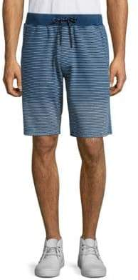 Regular-Fit Striped Fleece Shorts