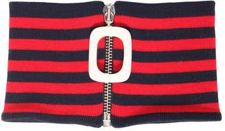 J.W.Anderson Striped Wool Neckband