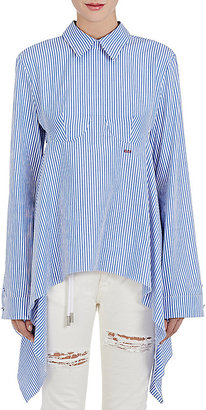 Off-White c/o Virgil Abloh Women's Striped Cotton Open-Back Shirt $630 thestylecure.com