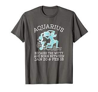 Aquarius Zodiac Astrology T Shirts Birthday Gifts TShirt Tee