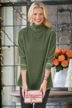 Soft Surroundings Stretch Velvet Turtleneck I