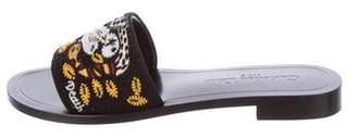 Christian Dior Embellished Slide Sandals
