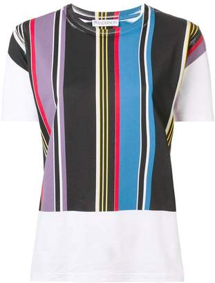 J.W.Anderson stripe panel T-shirt