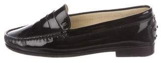 Tod's Patent Leather Round-Toe Loafers
