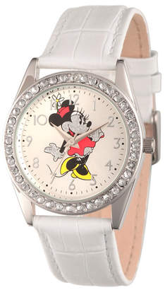 EWatchFactory Disney Minnie Mouse Women Silver Alloy Glitz Watch