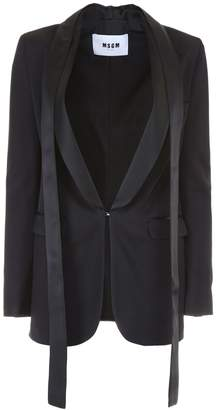 MSGM Low-Neck Trim Blazer