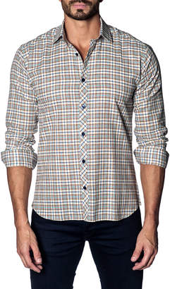 Jared Lang Madras Plaid Sport Shirt
