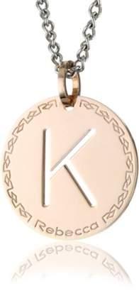 "Rebecca Word"" Gold Over Bronze Letter ""K"" Necklace"