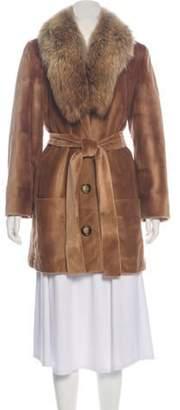 Michael Kors Belted Fur Coat Belted Fur Coat
