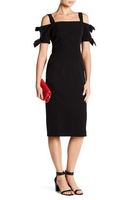 London Times Solid Dream Cold Shoulder Dress