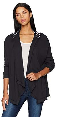 Three Dots Women's Thermal Loose Mid Cardigan