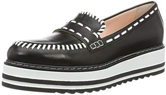 db4380b1526 Marc Cain Women s GB SC.11 L46 Loafers Black and White 910 38 EU