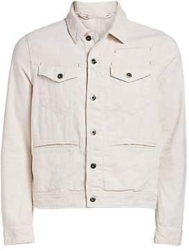 G Star Men's Distressed Back Patch Denim Jacket
