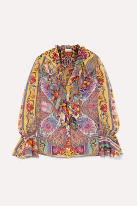 b3c1b13ab4bfb9 Etro Ruffled Printed Silk-chiffon Blouse - Pink