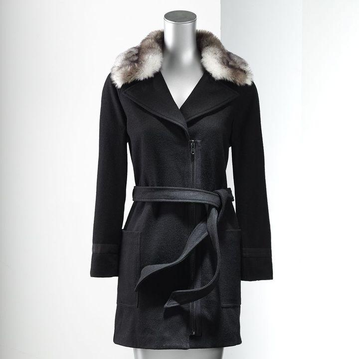 Vera Wang Simply vera wool-blend coat