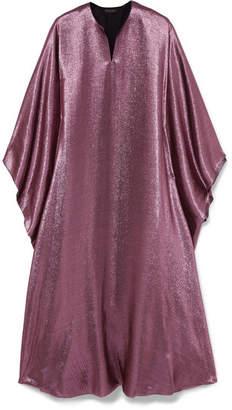 Reem Acra Draped Lame Midi Dress - Lilac
